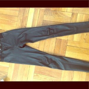 Alice Olivia black leather pants